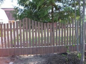 Установленный забор
